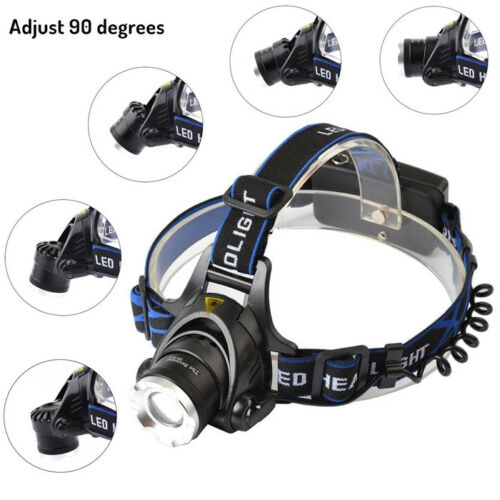 T6 LED Rechargeable Headlamp 18650 Tactical 30000LM Headlight Head Lamp Torches*