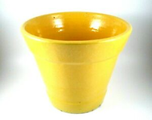 """Vintage Yellow Pottery Planter Marked with CP on Bottom 6""""x7"""""""