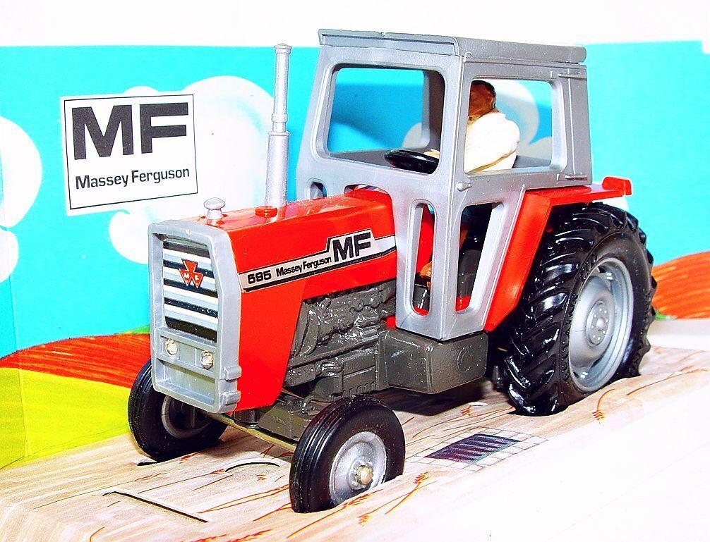 Britains Ltd 1 32 Massey Ferguson hijo de perra 595 Tractor Paja-Caja 1976 Top como NUEVO   MIB`76