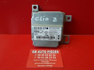 RENAULT-CLIO-2-PHASE-2-CALCULATEUR-AIRBAG-8200277317-BOSCH-0285001537