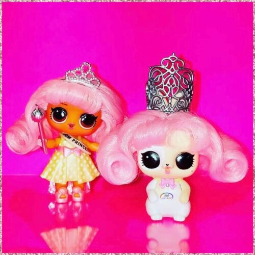 LOL Surprise PROM PRINCESS /& BUNNY Lights Glitter Pets Hairgoals Cute Dolls Set