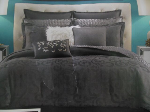 Candice Olson Drizzle 4pc Queen Comforter Pillow Shams Bedskirt