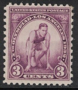 Scott-718-Mh-3c-los-Angeles-Verano-Olimpiadas-Runner-1932-sin-Usar-Mint