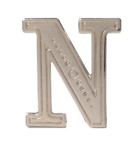 Letter N Nickel-Plated Orange Order Collarette Character