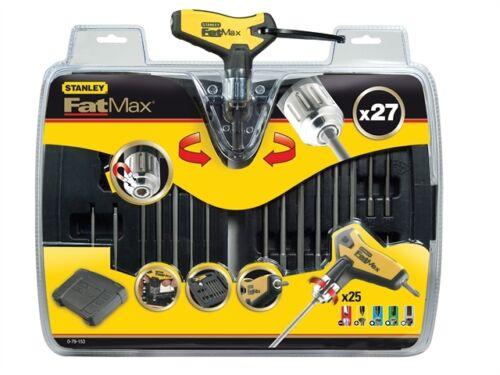Stanley STA079153 FatMax T Handle Ratchet Power Key Set 27 Piece