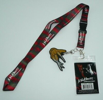 Molded Rubber VHS Lanyard with ID Badge Holder *NEW* A Nightmare on Elm Street
