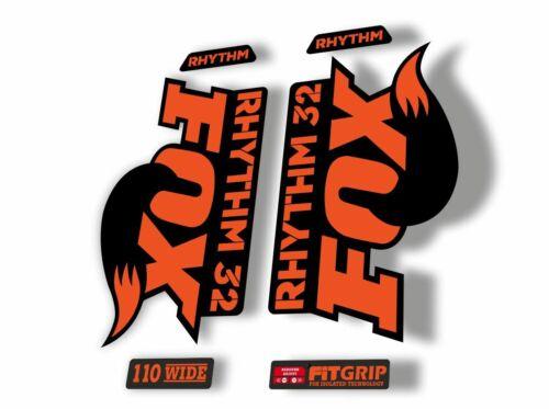 FOX 32 Rhythm 2018 Forks Suspension Factory Decal Sticker Adhesive Orange