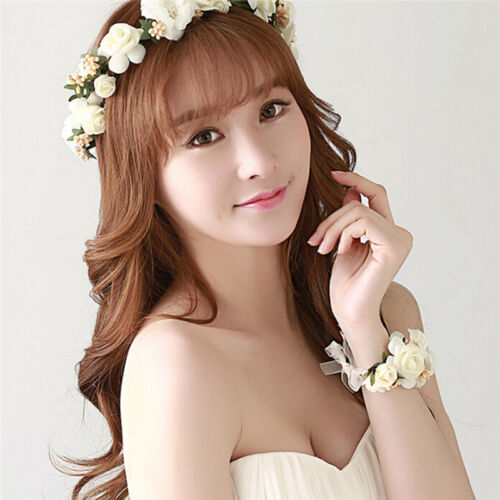 Floral Crown Head Wreath Flower Headband Hair Garland Wedding Photo Headpiece B$
