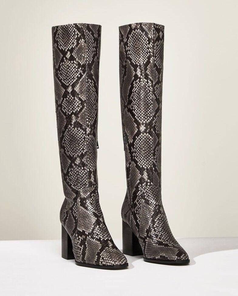 Zara Woman studio Stivali Nero Grigio 37 Snake corpetto serpenti
