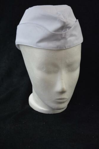 56 Hiza Schiffchen unisex Kochmütze Koch Mütze Hat Hut Cap weiß Küche Gr