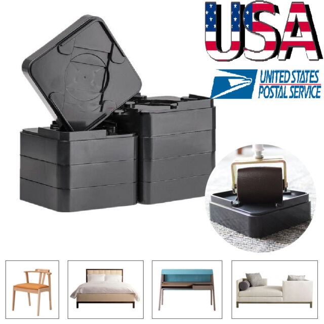 Astounding 8Pcs Heavy Duty Non Slip Furniture Risers Raisers Raise Beds Table Desk Chairs Squirreltailoven Fun Painted Chair Ideas Images Squirreltailovenorg