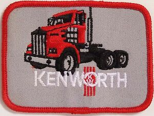 KENWORTH-TRUCKS-GREY-EMBROIDERED-PATCH-100x73mm-WOVEN-CLOTH-BADGE-SEW-ON-NOS