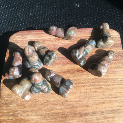 Natural rhyolite quartz hand carved crystal Penis Massage healing 5pcs