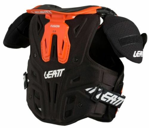 Leatt FUSION 2.0 Youth Kids Vest Neck and Body Protector Orange S//M 105-125CM