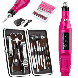 New PROFESSIONAL ELECTRIC NAIL FILE DRILL Manicure Tool Pedicure Machine Set kit 799632499527
