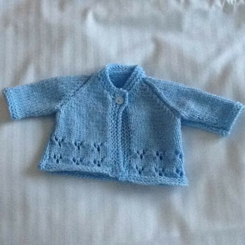 A BEAUTIFUL HANDKNITTED CARDIGAN FOR PREMATURE BABY