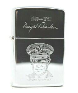 Zippo-Dwight-Eisenhower-lighter-vintage-with-case-ww2