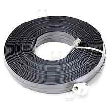 Undercarpet Cat5e RJ11 Phone DSL Data Flat Cable 50 ft 6P4C M- F Key Jack Ext