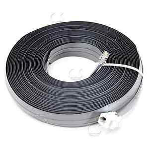undercarpet cat5e rj11 phone dsl data flat cable 50 ft. Black Bedroom Furniture Sets. Home Design Ideas