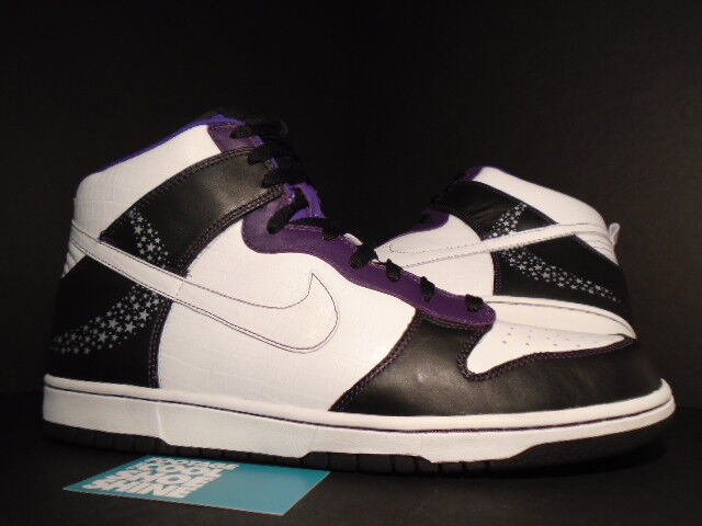2006 NIKE SB DUNK HIGH PREMIUM CROCODILE STARS BLACK WHITE PURPLE DIAMOND NEW 13