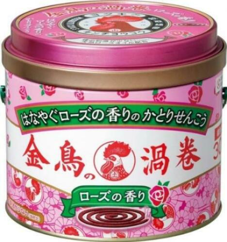 Kincho Mosquito Repellent Coil Incense 30 coils Rose scent From Japan