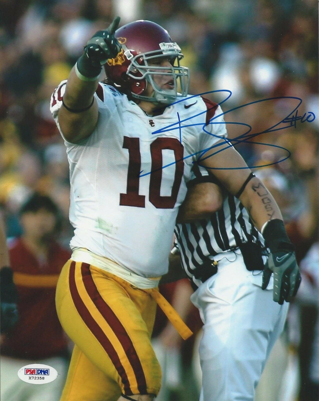 Brian Cushing USC Trojans signed 8x10 photo PSA/DNA #X72358
