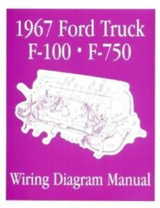 ford 1967 f100 f750 truck wiring diagram manual 67 ebay rh ebay com