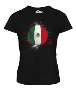 Mexique-Football-T-Shirt-Femme-Haut-Cadeau-World-Cup-Sport