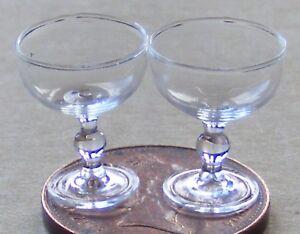 Constructif 1:12 Scale 2 Champagne Verres Tumdee Maison De Poupées Miniature Accessoire Gla17a-afficher Le Titre D'origine Attrayant Et Durable