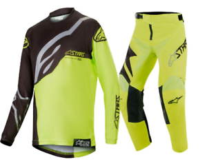 Combo Kit 26 2019 Motocross Yellow Factory Youth l Flo Racer Alpinestars 4xfYg