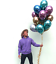 "5pcs//set 10/"" Chrome Balloons Bouquet Birthday Party Decor  Wedding Shiny"