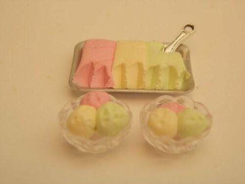 Casa De Muñecas alimentos Tutti Frutti helado para dos-por Fran