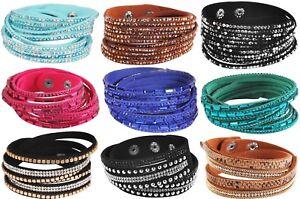 Wickelarmband-Strass-Damen-Armband-Slaker-Trendy-Glitzer-Geschenk-Bracelet-WOW