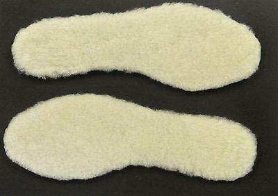 100% Original De Piel De Cordero Plantillas Para Zapatos, Botas, Zapatillas, hecho en tamaño de Reino Unido 2.5 - 13