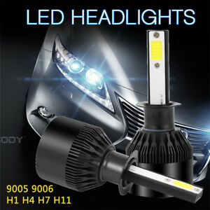 2x-H1-72W-9000LM-Phare-De-Voiture-COB-LED-Feux-Headlight-Kit-Ampoule-6000K-Blanc