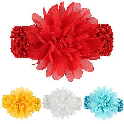 AC/_ Eg /_ Hk Baby Mädchen Kleinkind Chiffon Blumen Kopfband Haar Zubehör Mütz