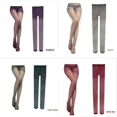 New Fashion Sexy Pure Color Transparent Pantyhose Tights Stockings