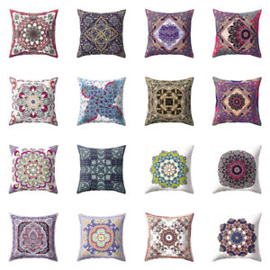 Am-BH-Vintage-Mexico-Colorful-Flower-Peach-Skin-Pillow-Case-Car-Home-Bed-Decor