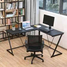 L Shaped Computer Corner Desk Pc Table Workstation Home Office Study Furniture