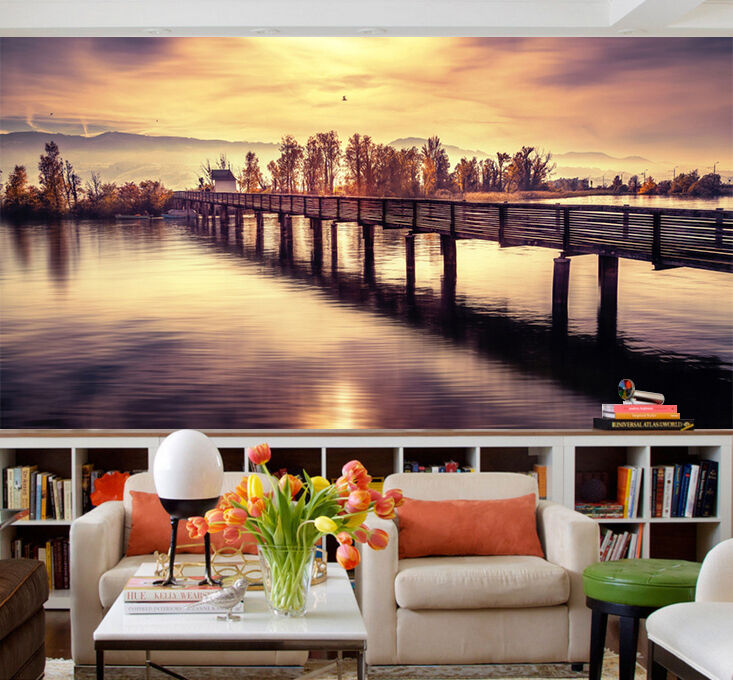 3D Beautiful Scenery River 583 Wall Paper Wall Print Decal Wall AJ WALLPAPER CA