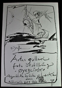 Horst JANSSEN (1929-1995) Offsetdruck - OYEBLICK - Artes Galerie Oslo - signiert
