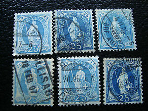 Switzerland-Stamp-Yvert-and-Tellier-N-73-x6-Obl-A7-Stamp-Switzerland-A