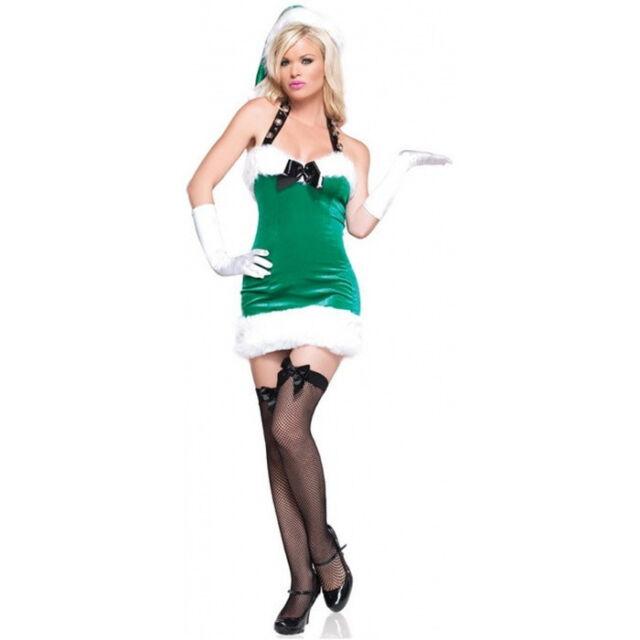 Sexy Halloween Adult Leg Avenue Women's Christmas Sleigh Bell Beauty Costume
