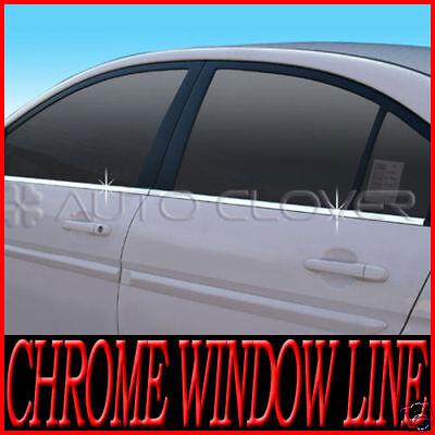 Stainless Steel Chrome Window Under Trim Molding 4P For HYUNDAI 06-2010 Verna