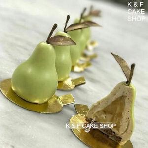 8X-Birne-Silikonform-Obst-Kuchenform-Mousse-Backform-Schokoladenform-Puddingform