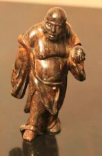 Ancienne Statuette Chine en Pierre sculptée - Bouddha -