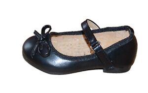 Details zu Mädchenschuhe Kinder Festliche Ballerina Pumps mit Absatz Lackoptik schwarz F111
