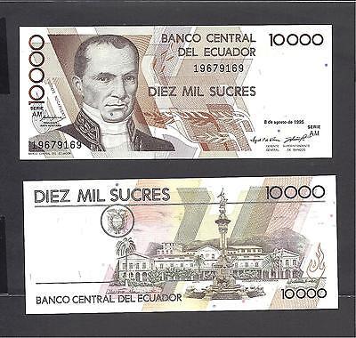 UNC /> Pre-USD$ Sucres 127b P-127 10000 1995 10,000 Ecuador