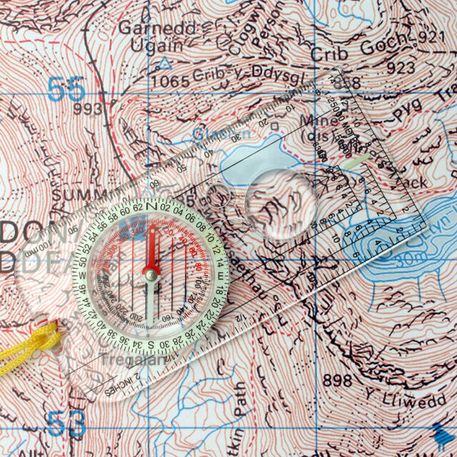 Magnifying Orienteering Compass Map Reading Scouts Army Cadet Hiking Navigation!