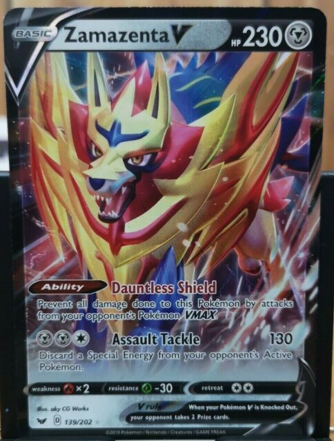 Pokemon Zamazenta V - Sword & Shield 139/202 Full Art *